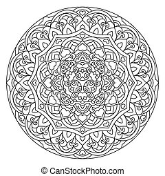 Abstract Flower Mandala. Decorative ethnic element for...