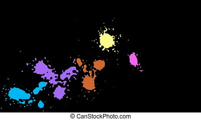 Colorful blots, blobs and stains