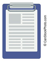 Medical record board. - Medical record board vector flat...