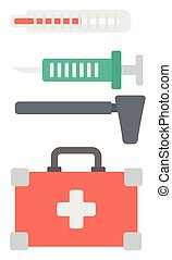 Various medical equipment - Various medical equipment vector...