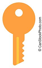 House or car key - Key vector flat design illustration...