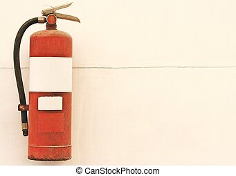 fire extinguisher tank - Old fire extinguisher tank on...