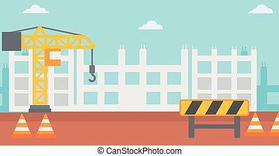 Background of construction site. - Background of...