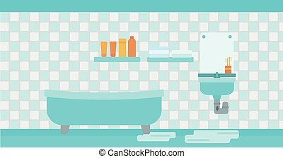 Background of leaking sink in the bathroom - Background of...