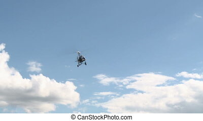 Flight vehicle aerial shot. - Piloted flight vehicle aerial...