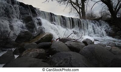 Waterfall Whitnall Park Franklin WI - Small Waterfall slow...