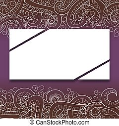 Banner with doddle pattern