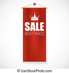 Sale Poster with vertical flag - Sale Poster with with...
