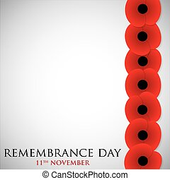 Remembrance Day card in vector format