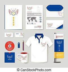 T-shirt, cobertura, giga, esquema, anual, voador, Livreto,...