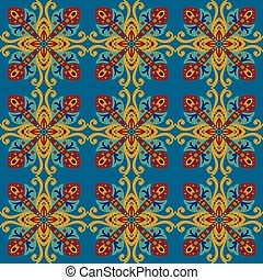 square ethnic seamless vector pattern