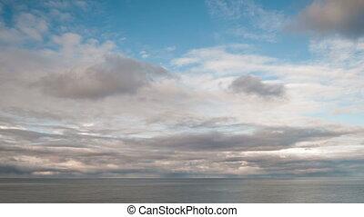 Calm and peaceful landscape footage. - Timelapse of calm sea...