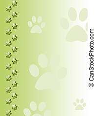 Paw print background