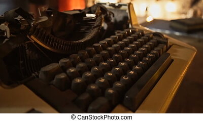 Old Russian typewriter, halloween Interior