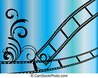 floral film stripes