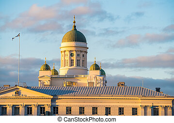 Cathedral in Helsinki, Finland - Lutheran Cathedral in the...