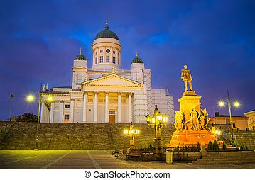 Cathedral in Helsinki, Finland - Cathedral and monument to...
