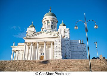 Cathedral in Helsinki, Finland - Cathedral in the Old Town...