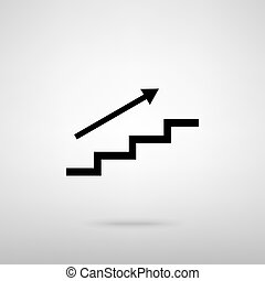 Stair with arrow