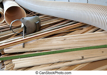 Lumber industry - Rest materials at a sawmill