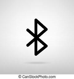Bluetooth sign. Vector illustration - Bluetooth sign. Black...