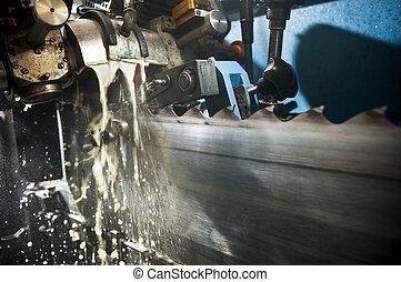 Sawblades - Repairing  the sawblades at a sawmill
