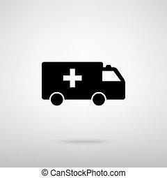Ambulance sign. Vector illustration - Ambulance sign. Black...