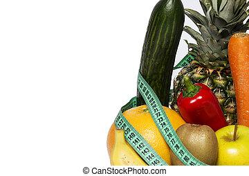 Fit fitness health slim diet dieting slimming - Vegetables...