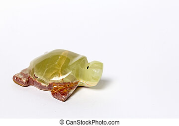 Onyx Turtle - Turtle from onyx on a white background