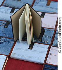notebook with jeans cover - notebook with jeans texture...