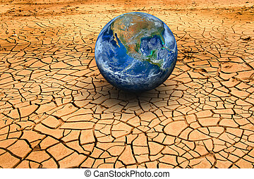 The earth on dry ground Elements of this image furnished by...