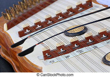 dulcimer, asian musical instrument