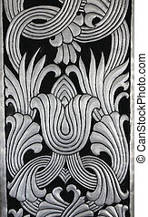 silver art craft background, Thailand - silver art craft...