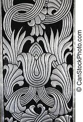 silver art craft background, Thailand - silver art craft...