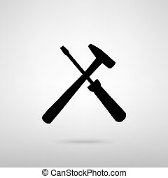 Tools sign Vector illustration - Tools sign Black with...