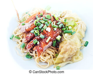 Asian Peking Duck noodle