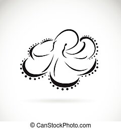 Vector image of an octopus design on white background