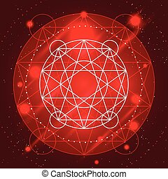 Magic Geometry Sign - Magic geometry sign Alchemy mystical...
