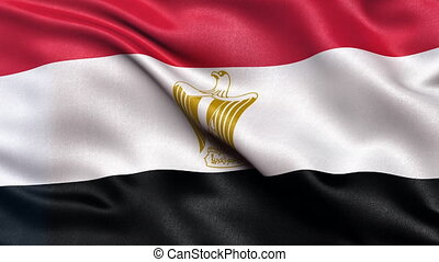 Flag of Egypt seamless loop - Realistic flag of Egypt waving...