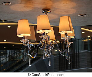 Chandeliers on ceiling
