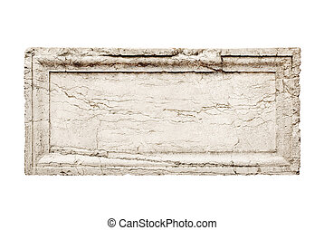 stone slab - ancient stone slab with carved frame