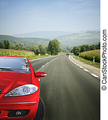 Greate car - Red car on the road