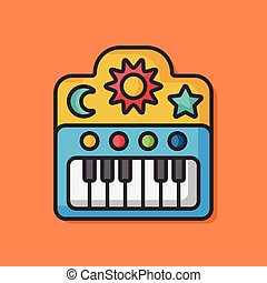 piano music vector icon