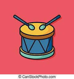 Bass drums vector icon
