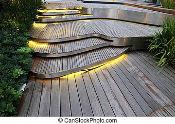 plank wood stair outdoor - old plank wood stair outdoor