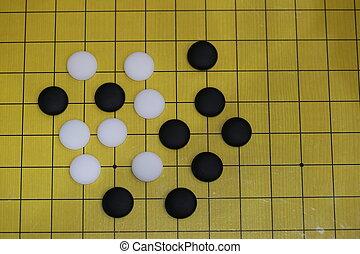 Go Checkerboard, asian board game