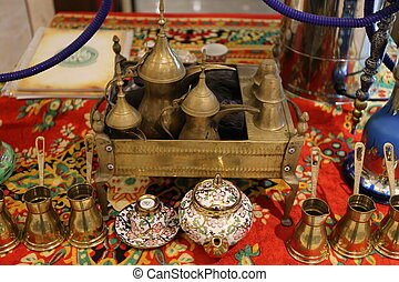 Arabic hookah and tea set