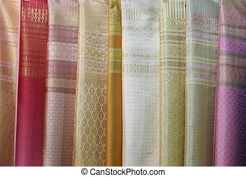 Thai silk fabric, texture background