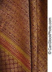 silk texture background, Thai style - silk fabric texture...