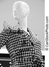 Dressing mannequins, shopping mall - Dressing mannequins in...